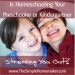 Is Homeschooling Your Preschooler or Kindergartner Stressing You Out?