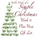 Twelve Weeks of a Simple Christmas: Week Three Mission