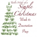 Twelve Weeks of a Simple Christmas — Week 6