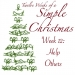 Twelve Weeks of a Simple Christmas — Week 12