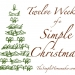 Twelve Weeks of a Simple Christmas