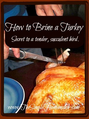 Brining a Turkey via The Simple Homemaker
