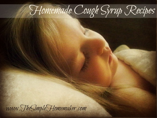 Homemade Cough Syrup Recipes via The Simple Homemaker