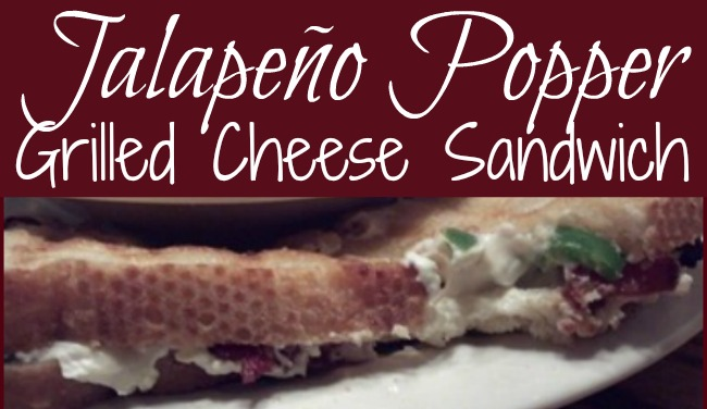 Jalapeno Popper Grilled Cheese Sandwiches