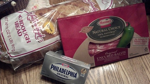 Ingredients for Jalapeno Popper Grilled Cheese Sandwiches