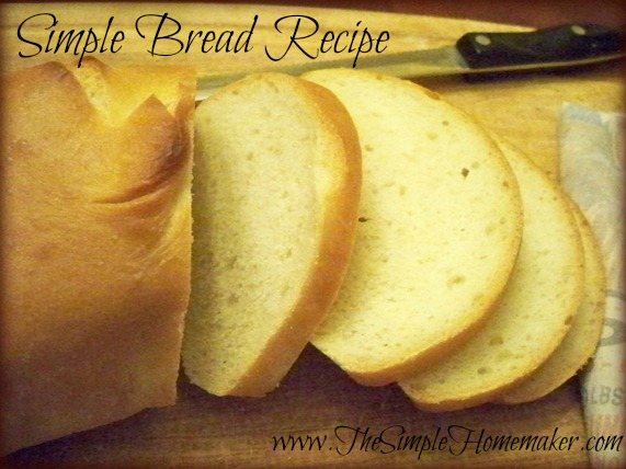 A Very Simple Bread Recipe from The Simple Homemaker