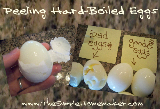 Peeling Hard Boiled Eggs Pinnable