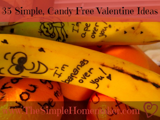 35 Simple, Candy-Free Valentine Ideas | www.TheSimpleHomemaker.com