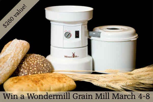 Win a Wondermill Grain Mill worth $260