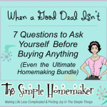 When A Good Deal Isn't - 7 Questions to Ask Yourself Before Buying Anything (Even the Ultimate Homemaking Bundle)