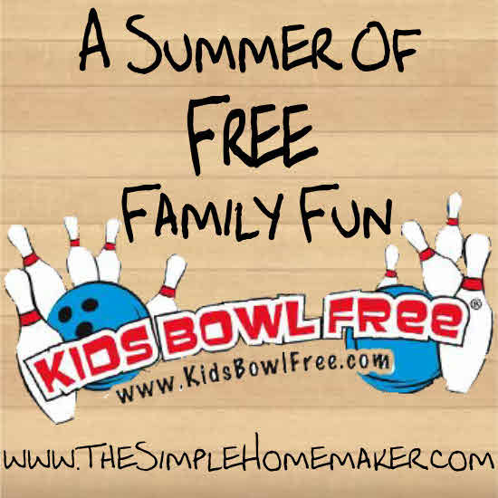 Free Bowling ALL Summer - includes a coupon for adults to bowl, too! Hurry!
