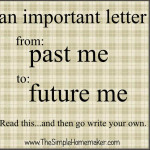 An important letter