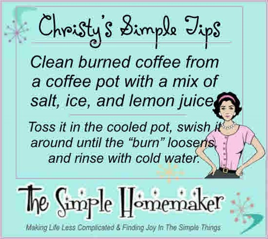 How to Clean Burned Coffee From a Coffee Pot | TheSimpleHomemaker.com