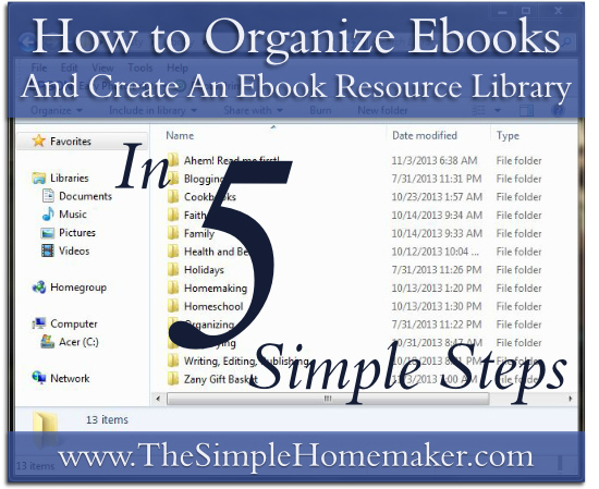 How To Organize Ebooks Pinnable