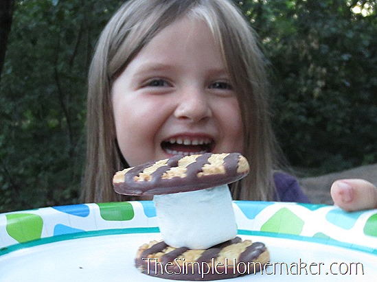 Simple {Nearly} Messless S'mores -- Only two ingredients and a mind-blowing technique!