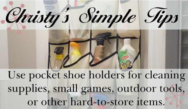 Christy's Simple Tips: Simple Storage Solution