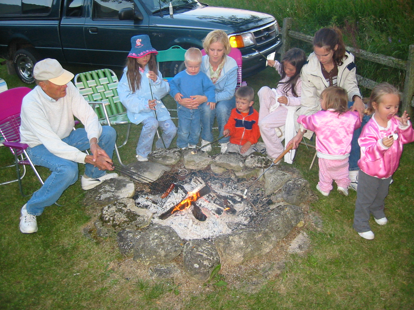 Campfire at Grandpa's