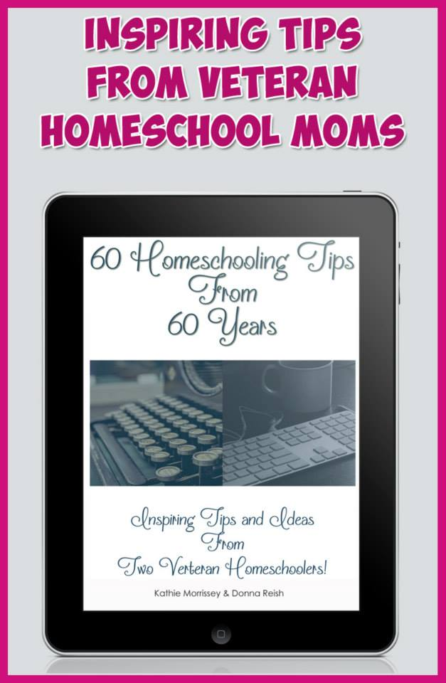 60 Homeschooling Tips from 60 Years--two AMAZING veteran homeschool moms of 15 kids share their wisdom and a giveaway.