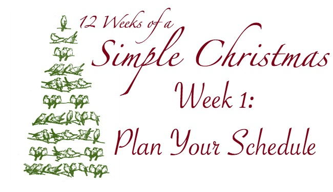 Twelve Weeks of a Simple Christmas: Week One Mission
