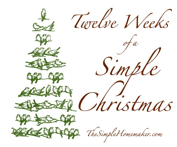 Twelve Weeks of a Simple Christmas -- Enjoy a peaceful family Christmas this year, with prep missions, reminders, and fun family activities.