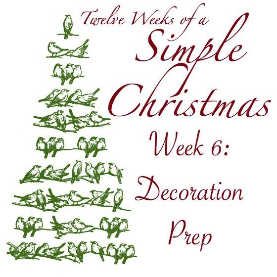 Twelve Weeks of Simple Christmas Template -- Week 6- Decoration Prep