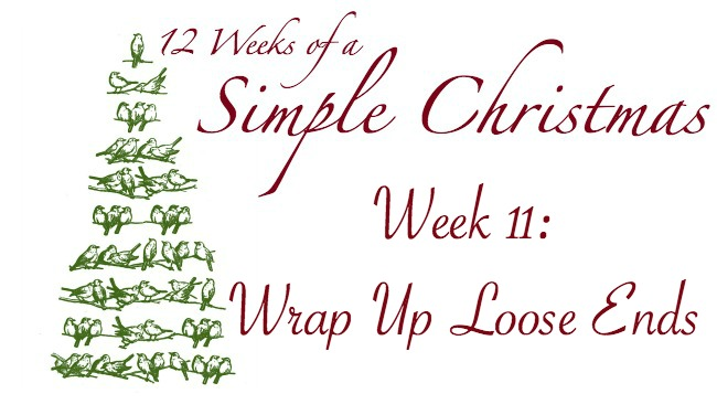 Twelve Weeks of a Simple Christmas — Week 11