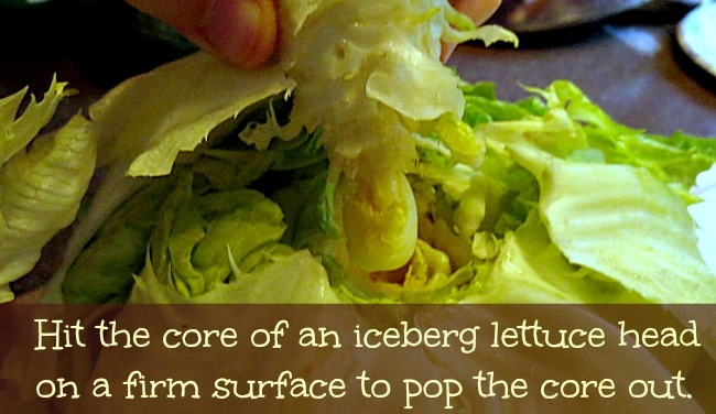Christy's Simple Tips: How to De-Core Iceberg Lettuce