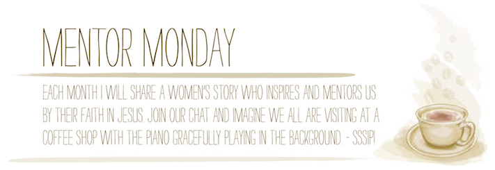 Monday Mentor -- A full-time traveling musician's wife and roadschooling mother of eight shares her thoughts on marriage, mentors, and life.