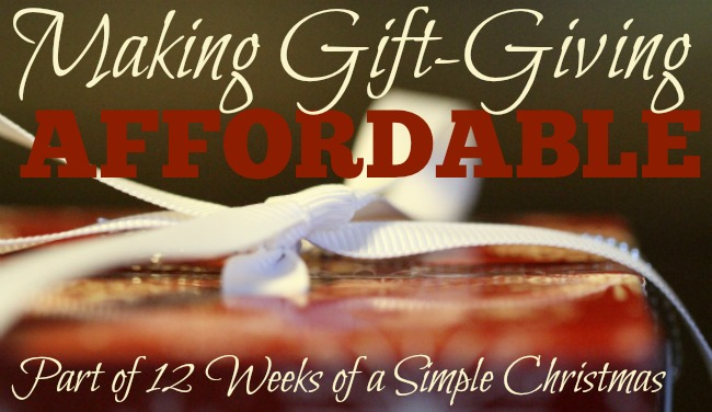 Making Gift-Giving Affordable