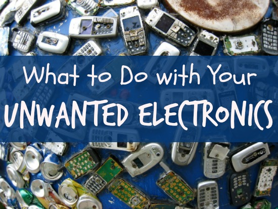 What to Do with Unwanted Electronics -- how to donate, recycle, sell, or upcycle.