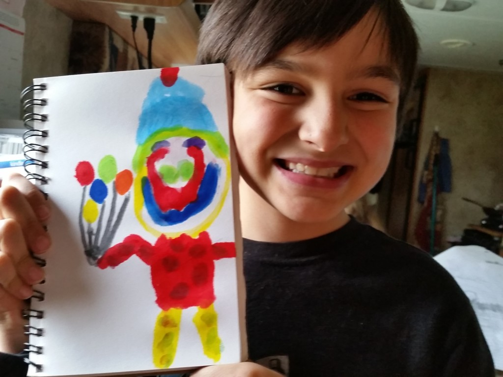 Mess-free paint for kids--great for travel and sleepy moms!