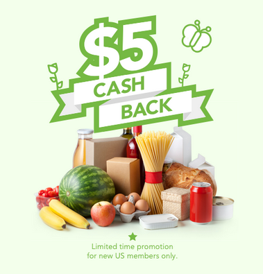 Save money on groceries without clipping coupons--plus earn $5 cash back! Hurry--limited time cash-back promo!